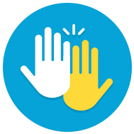 Happy High Five Icon